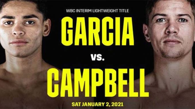 Campbell vs Garcia Live, How To Watch, DAZN PPV Boxing, HD TV