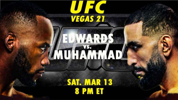 Edwards vs Muhammad Live, How to Watch UFC Vegas 21, Online HD TV